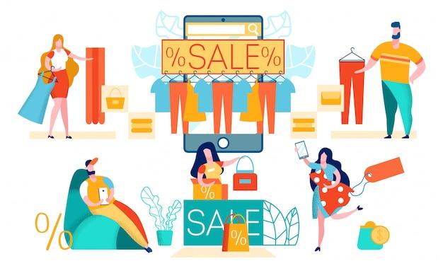 Online winkelen met mobiele app