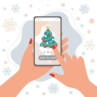 Online winkelen met smartphone