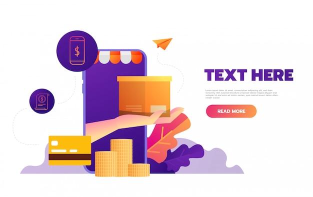 Online winkelen op mobiele app,,