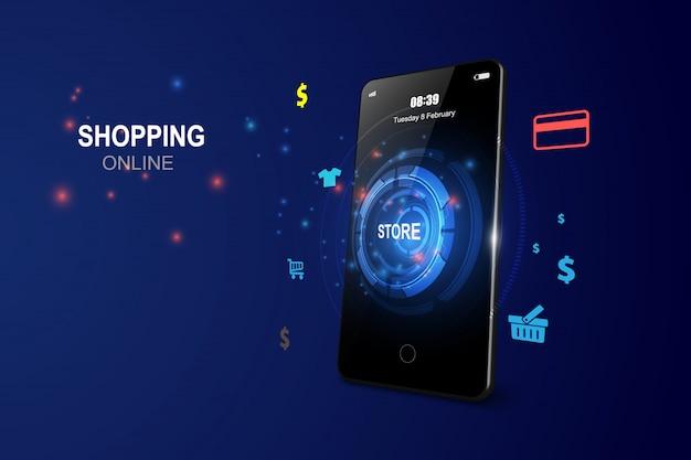 Online winkelen op mobiele applicatie