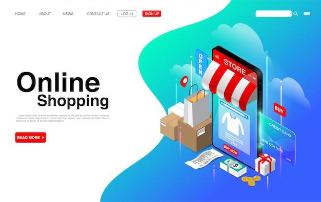 Online winkelen op mobiele telefoon.