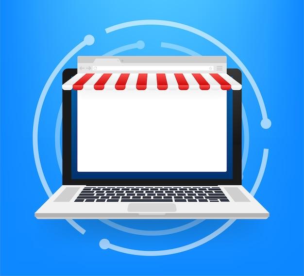 Online winkelen op website illustratie