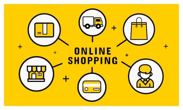 Online winkelen pictogram