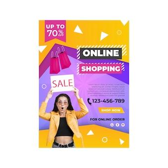 Online winkelen poster sjabloon