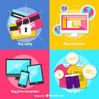 Online winkelen vector