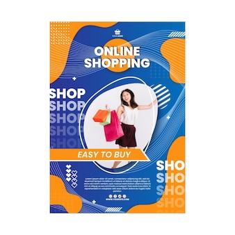 Online winkelen verticale poster sjabloon