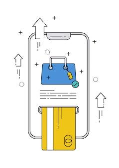Online winkelen via mobiel met creditcardlijn