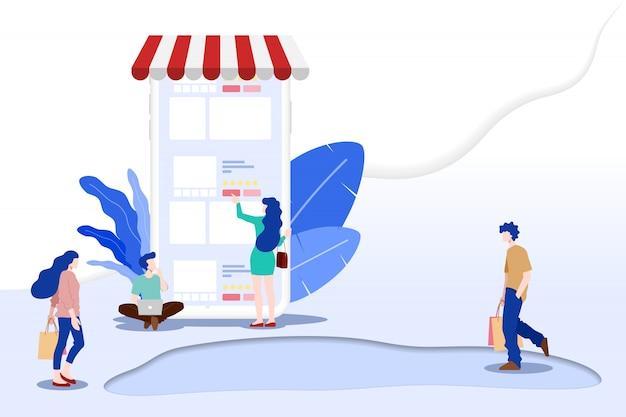 Online winkelen voor m-commerce.