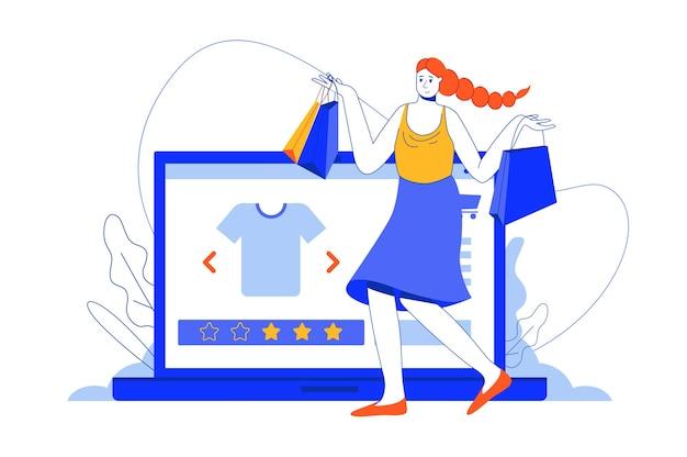 Online winkelen webconcept