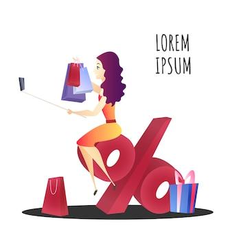 Online winkelen website element sjabloon