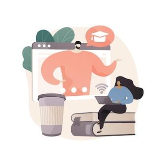 Online workshop abstracte concept illustratie