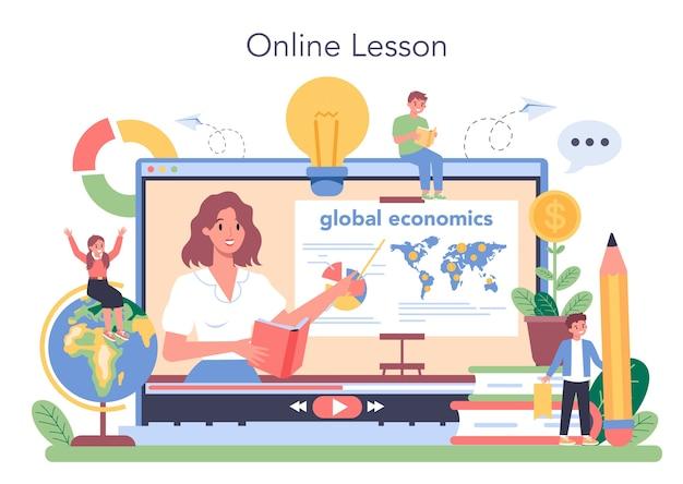 Onlineservice of platform voor economieonderwijs