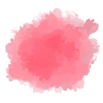 Onregelmatige roze verfvlek op een witte achtergrond