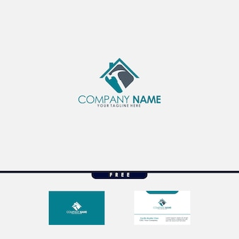 Onroerend goed, bouw en constructie-logo