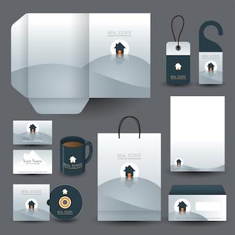 Onroerend goed concept zakelijke zakelijke briefpapier