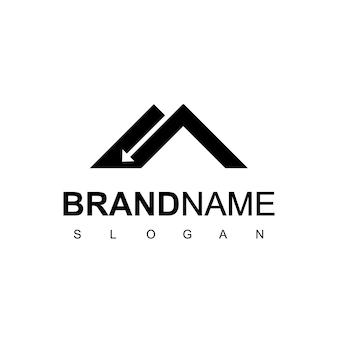 Onroerend goed dak logo ontwerp inspiratie