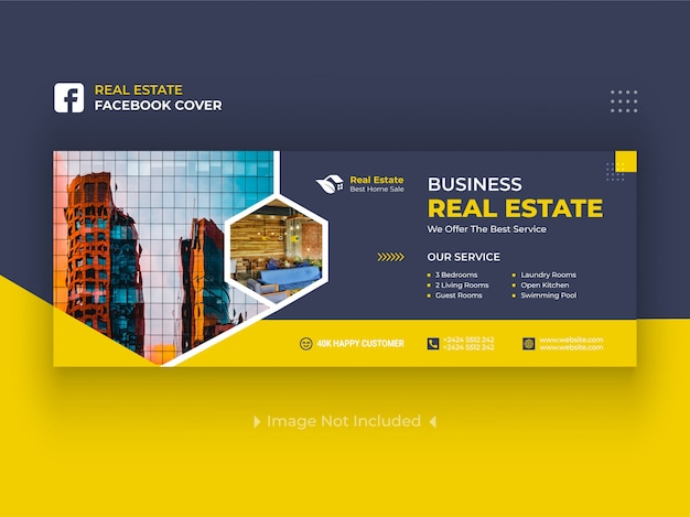 Onroerend goed facebook cover banners premium
