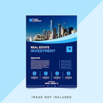 Onroerend goed investeringen sjabloon folder met foto