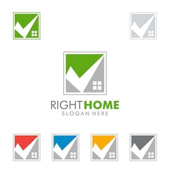 Onroerend goed logo, check home-logo