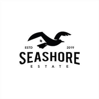 Onroerend goed logo eenvoudig klassiek zwart