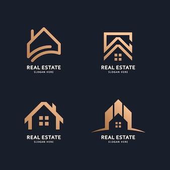 Onroerend goed logo en pictogram ontwerpconcept
