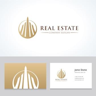 Onroerend goed logo, huiszorg logo, eigendom, huis logo, huis en gebouw, vector logo sjabloon