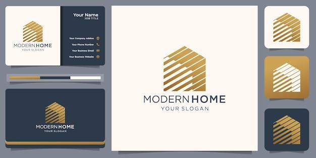 Onroerend goed logo, modern huislogo, eigendom, huislogo, huis en gebouw