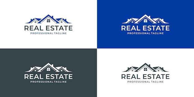 Onroerend goed logo ontwerp huis huis logo creatief