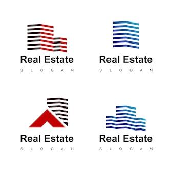 Onroerend goed logo ontwerp inspiratie