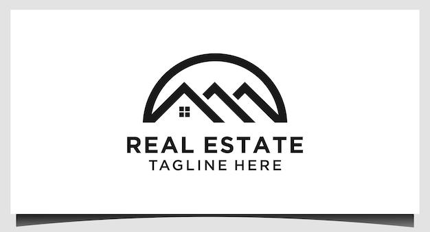 Onroerend goed logo ontwerp vector