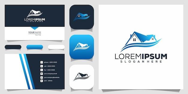 Onroerend goed logo ontwerp