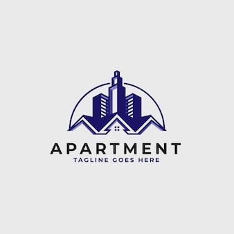 Onroerend goed logo ontwerpsjabloon - bouw en architectuur gebouw logo