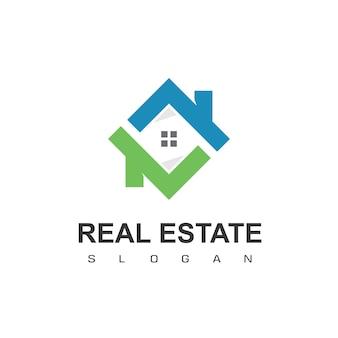 Onroerend goed logo ontwerpsjabloon dakbedekking logo vector
