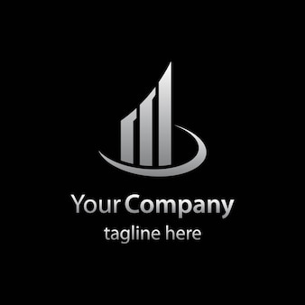 Onroerend goed logo sjabloon met abstracte isotype