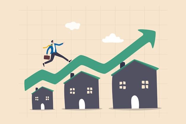 Onroerend goed of onroerend goed groei concept
