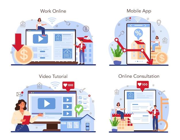 Onroerend goed online service of platform ingesteld lage commissie