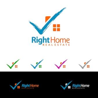 Onroerend goed vector logo ontwerp