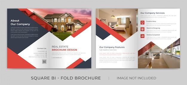 Onroerend goed vierkante bi-fold brochure
