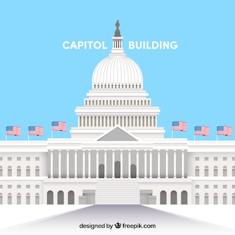 Ons congresgebouw met een plat ontwerp