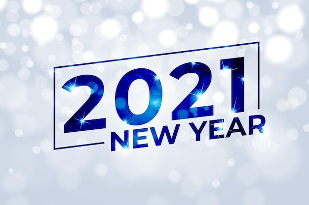 Onscherpe achtergrond nieuwjaar 2021