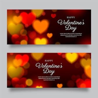 Onscherpe valentijnsdag banners