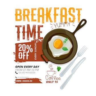 Ontbijt advertentie sjabloon
