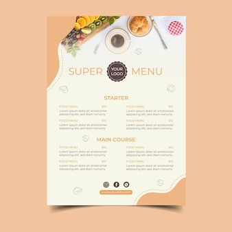 Ontbijt concept poster