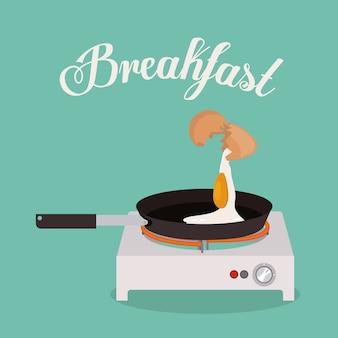 Ontbijt digitaal ontwerp