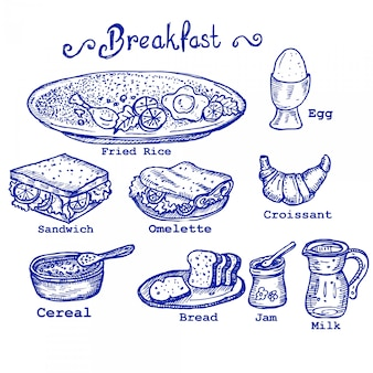 Ontbijt doodles