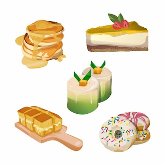 Ontbijt eten illustratie