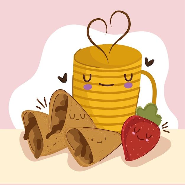 Ontbijt fruit koffie