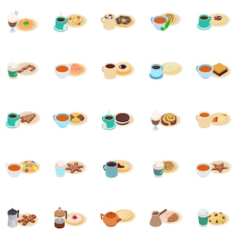 Ontbijt icon set