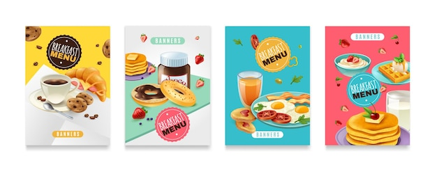 Ontbijt menureeks poster