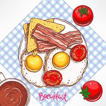 Ontbijt met spek en roerei